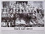 VGSD Cartel De La Calle Pared Negra, Blanco Y Negro Arte Africano Negro Historia Lienzo Pared Arte Imagen 42X60 Cm