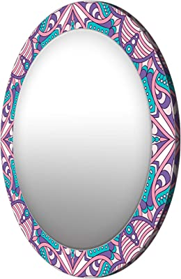 999STORE MDF Pattern Mirror (Multicolour_17 X 17 Inch)
