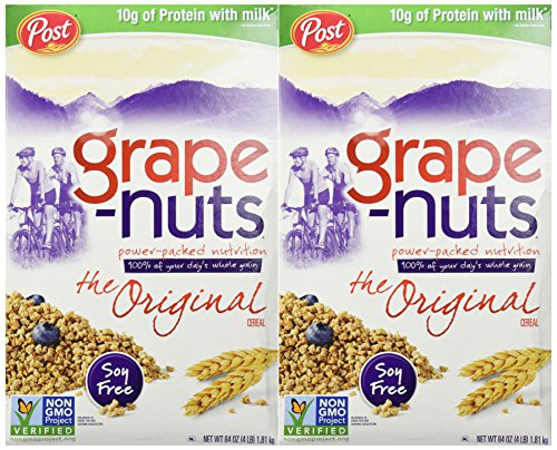 Post Grape-Nuts Cereal, 64-Ounce Boxes (Pack of 2)