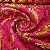 Textile Station AM-03 Brokatstoff, Ornament, Magenta, Rosa,