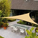AXT SHADE Toldo Vela de Sombra Triangular 3 x 3 x 3 m, protección Rayos UV Impermeable para Patio,...