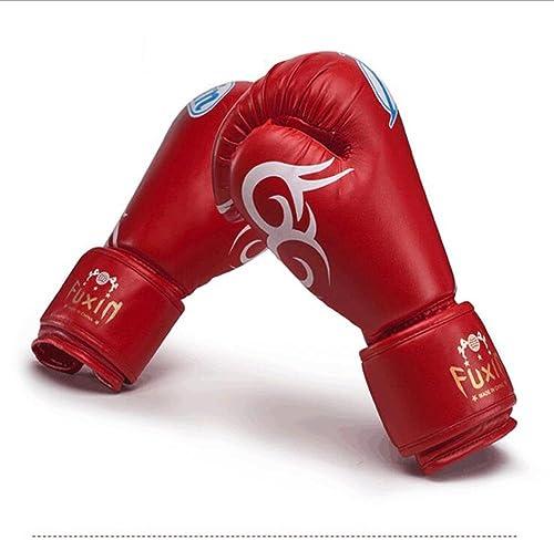 ZH Gants de Boxe Muay Thai kickboxing EntraineHommest Sparbague Competition Mitaines Cuir Adulte