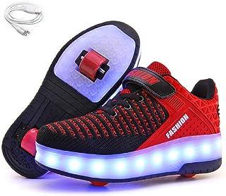 24XOmx55S99 Dance Boys Girls LED Air Cushion Shoes USB Charging Flashing Fashion Sneakers for Kids