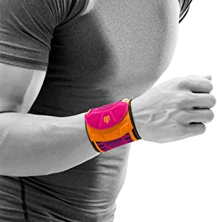 Bauerfeind Sports Wrist Strap - German Engineered Wrist Compression Support for Weightlifting, Crossfit, Tennis, Lifting - Adjustable Tightness Brace with 3D Airknit Fabric - 1 Per Box