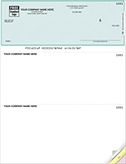 Business Computer Checks Compatible with QuickBooks/Quicken for Laser or Inkjet Printers, Green Herringbone (Quantity 100)