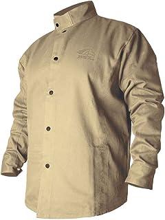 Black Stallion BSX BXTN9C Khaki Fire Resistant Cotton Welding Jacket,