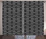 ABAKUHAUS Conducción Cortinas, Las Ondas Verticales de intersección, Sala de Estar Dormitorio Cortinas Ventana Set de Dos Paños, 280 x 225 cm, del Gris y Blanca