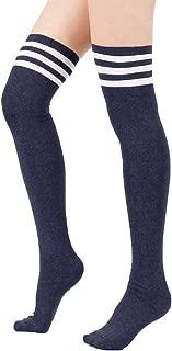 Zando Women Plus Size Thigh High Stockings Casual Over the Knee Socks Thin Thigh High Socks Long Leg Warmers Stockings