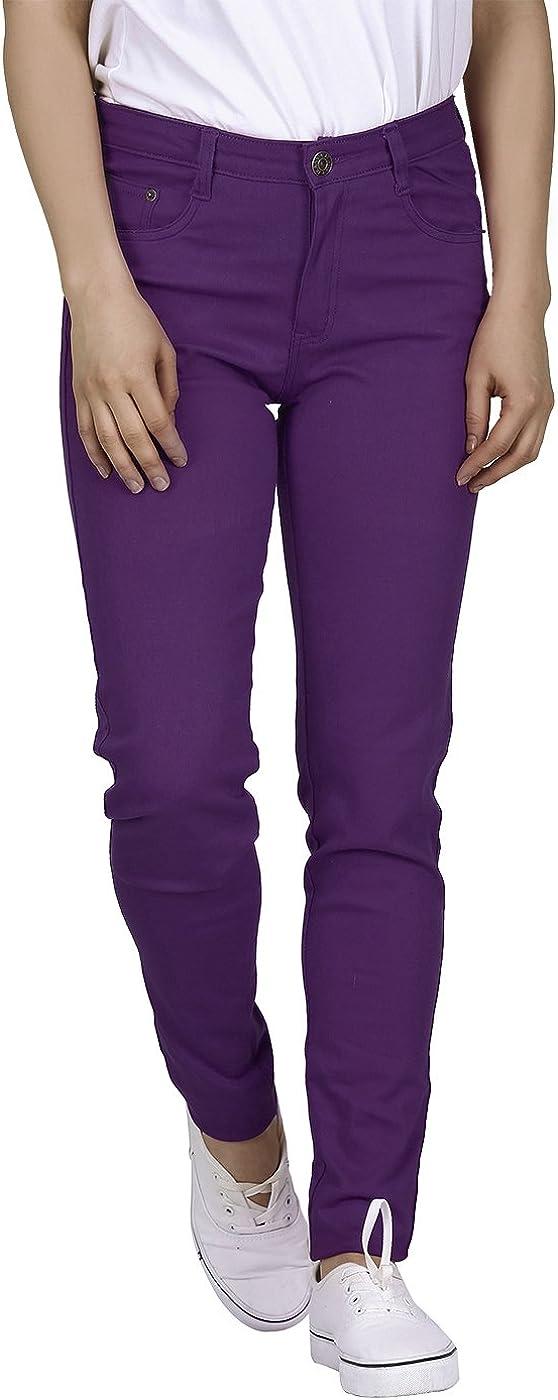 HDE Women's Mid-Rise Stretchy Denim Slim Fit Skinny Jeans