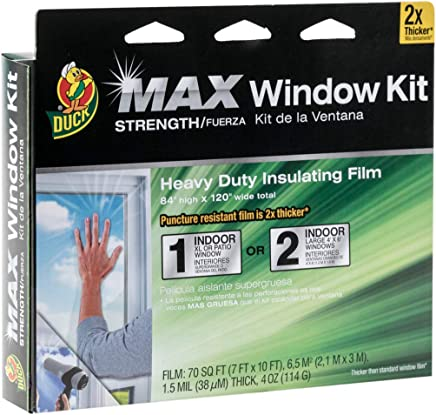 84-Inch x 120-Inch 284352 Duck MAX Strength Heavy Duty Insulating Film for Patio Door//Extra Large Window Indoor