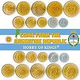 Conjunto de 10 Monedas de Argentina. 1, 5, 10, 20, 50 Centavos, 1, 5, 10, 50, 100 Pesos. 1970-1981