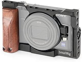 SmallRig Sony RX100 VI専用ケージ 木製ハンドル装備 NATOレール装備 Arriアクセサリーピン装備-2225