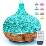 MANLI 400ml Difusor Aceites Esenciales,Diufusor de Aromas 7-Color LED,3 Temporizador Humidificadores de Niebla fría con Apagado Automático sin Agua para Yoga, Oficina, SPA, Dormitorio
