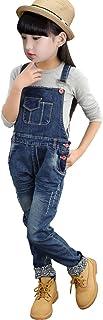 [FERE8890] ガールズ サロペット ズボンつり オーバーオール サスペンダーズボン ズボン オールインワン 折り返し ファッション