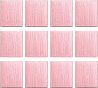 NUOBESTY 25Pcs Bolha Utentes Envio Saco Bolha Envelope Sacos de Discussão Rosa Auto Selado Sacos de Embalagem de Presentes...