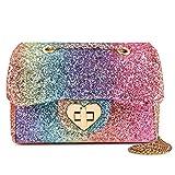 Mibasies Kids Glitter Purse for Little Girls Toddler Crossbody Bags