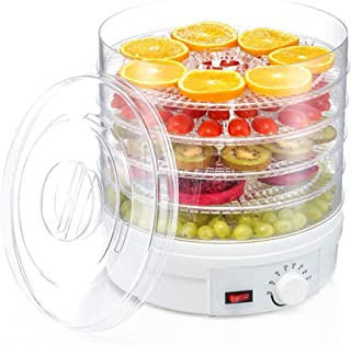 YUNTAO Food dehydrator, Food Dehydrator, Electric Manual Temperature Control Mute 5 Layer Plastic Crystal Plate Commercial...