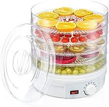 Máquina de conservación de alimentos para el hogar Deshidratador de frutas, control de temperatura eléctrico Silencio 5 capas de ABS Placa de cristal Comida comercial Deshidratador de perros para desa