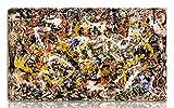 Berkin Arts Jackson Pollock Estirado Giclee Imprimir en Lienzo-Pinturas Famosas Arte Fino Póster-Reproducción Decoración de Pared Listo para Colgar Fine Art Wall Decor(Convergencia)#NK