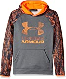 Under Armour Boys SG AF Big Logo Hoodie, Anthracite /Magma Orange, Youth X-Small