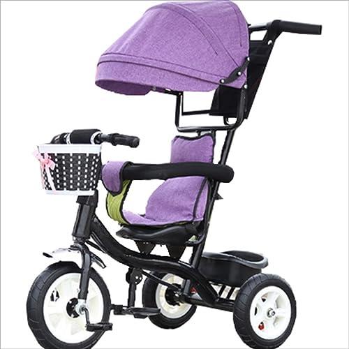 increíbles descuentos Strollers DD Bicicleta de bebé Bicicleta Infantil Infantil Infantil de 8 Meses en Bicicleta - 6 años, con toldo, neumático de Goma Completo Triciclo Bebe  aquí tiene la última