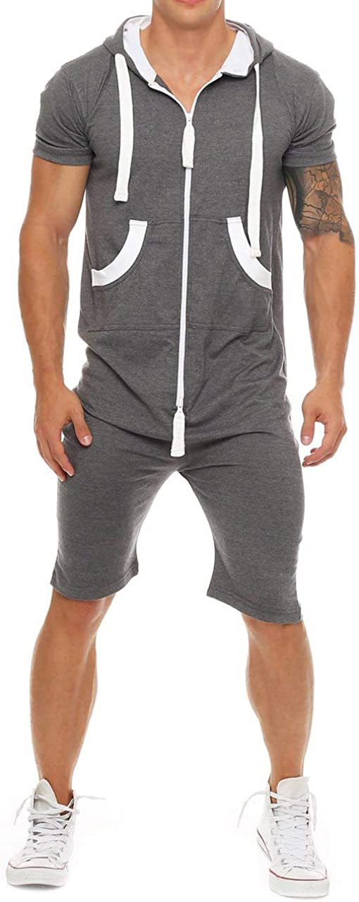 FUOE Men's Casual Spring Max 65% OFF Summer Rompers Sleeve Piece New product type Z Short One