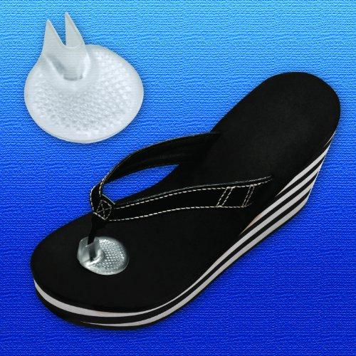 Preisvergleich Produktbild Silipos Sandal Gel Toe Protector / 1 Pair / One Size Fits All / Peel & Stick Gel Toe Cushion for Sandals & Flip Flops