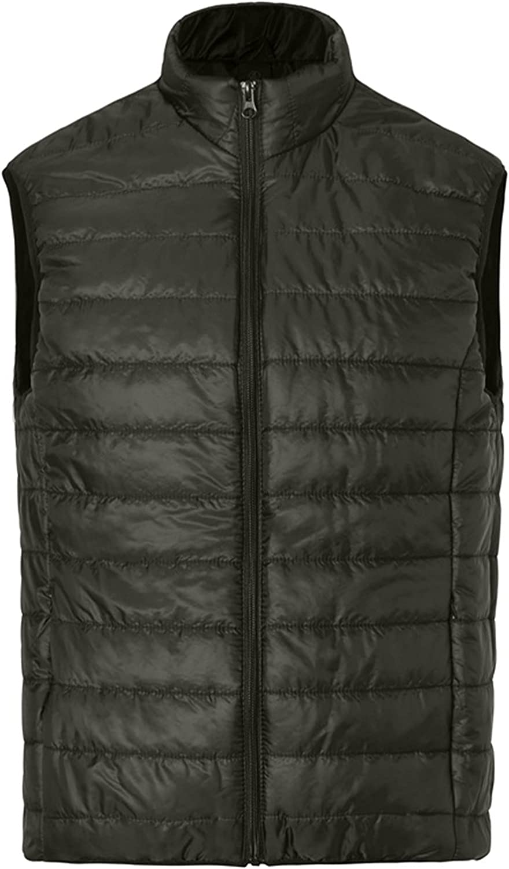 Men's Down Vest Winter Warm Cotton Puffer Waistcoat Coat Lightweight Packable Classic All-match Jacket Outerwear