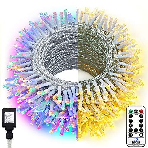 KNONEW LED String Light 720 LED 328ft Long Christmas Lights 9 Modes, Outdoor Indoor Plug In Fairy Lights for Christmas Wedding Party Patio Holiday Decorations(Color Changing: Warm White to Multicolor)