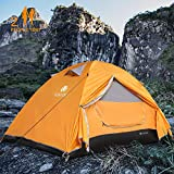 V VONTOX Camping Tent 2-3 Person Lightweight Backpacking Tent Waterproof Two Doors Easy Setup Tent,...
