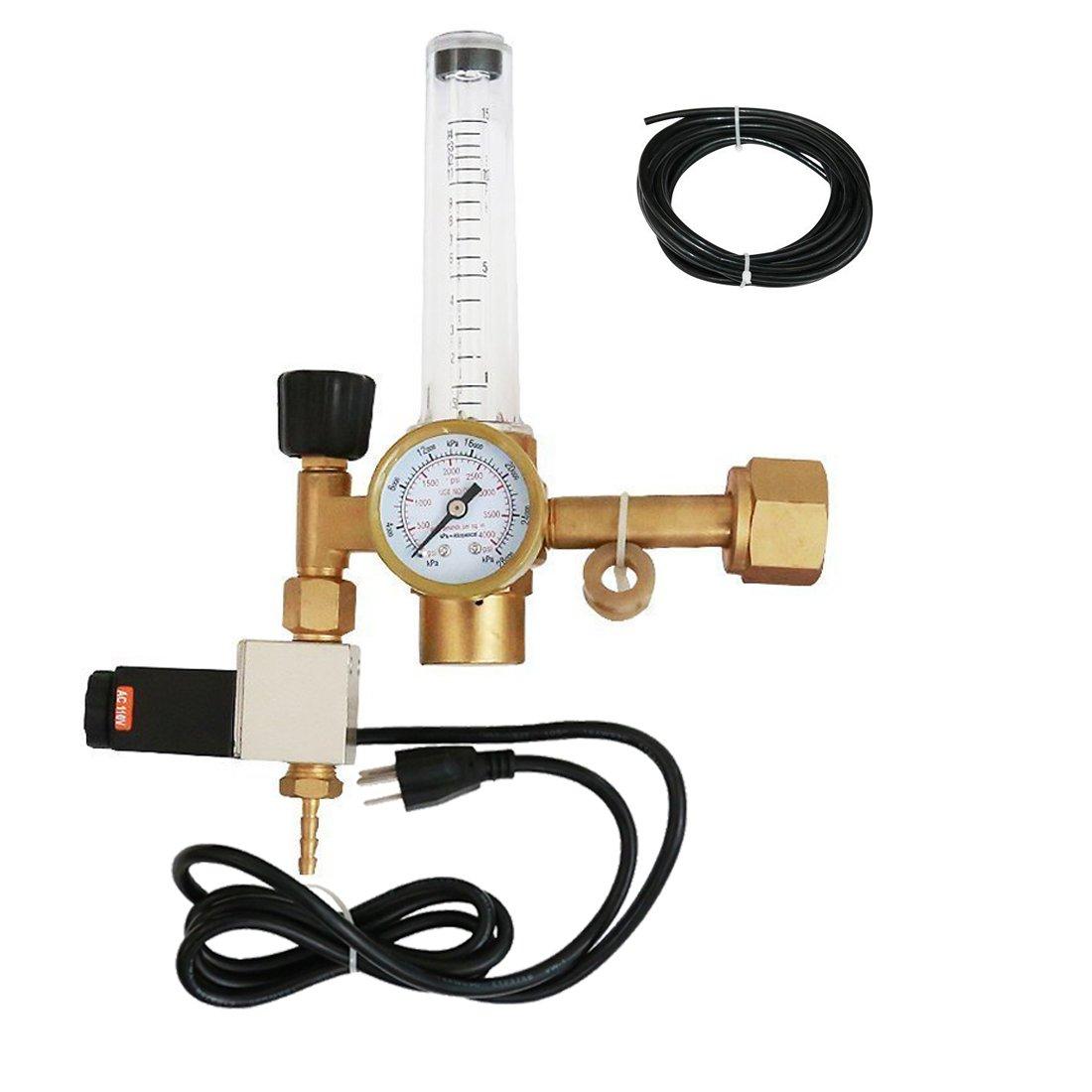 VIVOSUN Hydroponics Regulator Solenoid Flowmeter