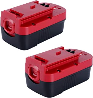 Lasica 2Pack 3500mAh 18V HPB18 NiCad Battery for Black and Decker 18 Volt Battery HPB18-OPE 244760-00 A1718 FS180BX FS18BX FS18FL FSB18 NST2118 Firestorm Black Decker 18V Cordless Power Tools Battery