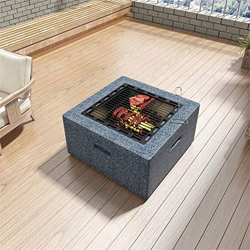 61JcaeNf5hL - HIZLJJ Startseite Feuerstelle Tischaußen mit BBQ Grill Regal, Multifunktionales Garten Terrasse Feuerschale Heizung/Grill, Platz Kamin