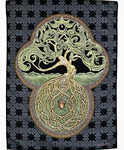 The Celtic Tree of Life Tapestry by Kevin Dyer - Great Oak - Acorn - Irish Art - Yggdrasil