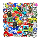 100 Pcs Fashion Brand Cool Stickers For Laptop Stickers Motorcycle Bicycle Skateboard Luggage Decal Graffiti Patches