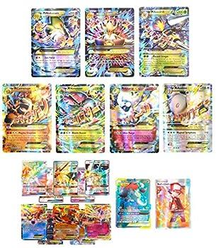 Set of 20 English Card  Alakazam Beedrill Mega EX with 5 EX 5 GX Trainer Tag Team Card - Standard Size 2.5  x 3.5  Matt Card Series