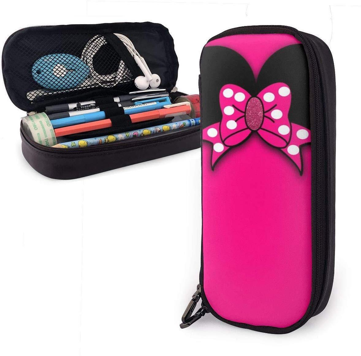 Estuche para lápices Minnie Bowknot Bolso para lápices de gran capacidad Maquillaje Estuche para bolígrafos Papelería con doble cremallera Portalápices para escuela/oficina: Amazon.es: Oficina y papelería