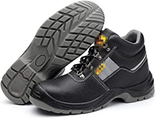 SHANLEE Men's Safety Shoes, Casual Hiking Shoes, Anti-Smashing and Puncture-Proof Shoes
