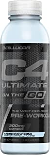 Cellucor C4 Ultimate On The Go Zero Sugar Pre Workout Drink, Energy Drink + Beta Alanine, Snow Cone, 11.66 Fl Oz (Pack of 12)