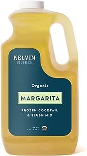 Kelvin Slush Co. – Margarita – Organic Frozen Cocktail & Slush Mix – Award-Winning Slush Machine & Blender Mix, Bars, Restaurants, At Home (64 oz bottle)