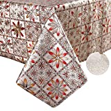 YADA Thanksgiving Party,Christmas Party Vinyl Tablecloth,Water-Proof,Oil-Proof,Spill-Proof Table Cover in Fall and Harvest.Heavy Duty Tablecloth for Outdoor and Indoor (B, 54''x70'' Inch)