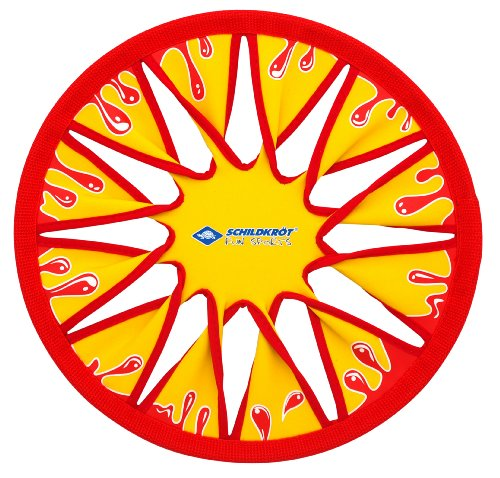 Schildkröt Funsports Disco Volador de Neopreno, Ø30cm, Frisbee Suave, en un Blister, Amarillo/Rojo, 970124