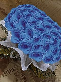 バラ/プレゼント/プリザーブドフラワー/ケーキ (ソーダブルー)クリアケースでお届けします。2年以上ご鑑賞いただけます。42色からお選びください。