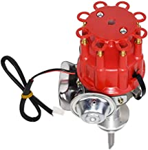 A-Team Performance Complete Ready to Run Distributor Compatible with Chrysler Dodge Mopar Plymouth V8 273 318 340 360 R2R Two Wire Installation Red Cap