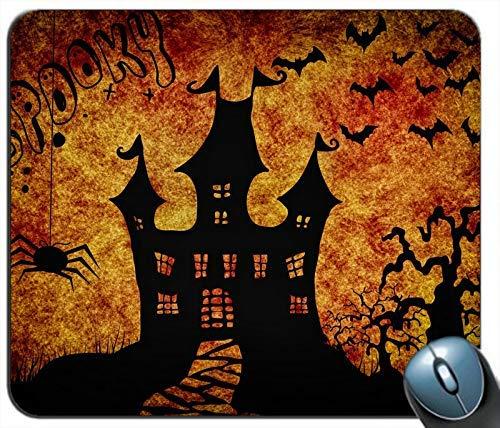 Halloween Castle Spider Fledermaus Bäume Silhouette Personalisierte Rechteck Maus Pad Maus Matte