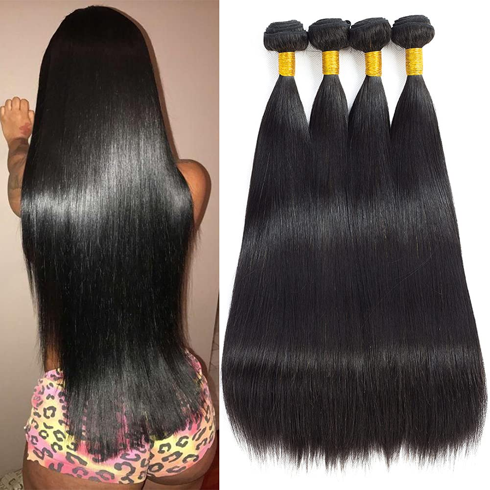 FW Hair 8A New York Mall Brazilian Straight 4 18 24inc Bundles Tucson Mall 22 280g 20