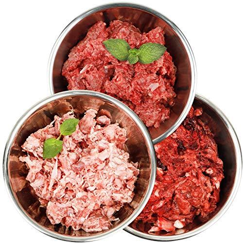 Barf-Snack Frostfutter für Hunde & Katzen, Sparpaket 28kg x 1000g mit Rind, Kaninchen & Ente, biologisch artgerechtes Rohfutter