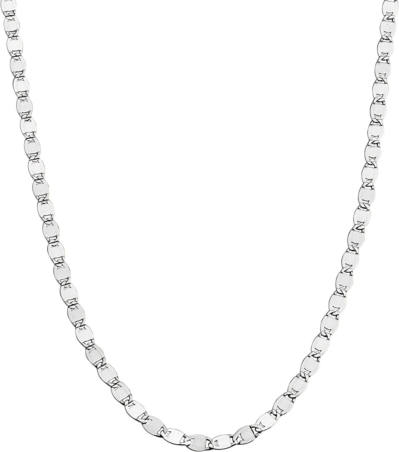 Miabella Max 77% OFF 925 Special price for a limited time Sterling Silver Italian Sparkle Chain Mirror Link N