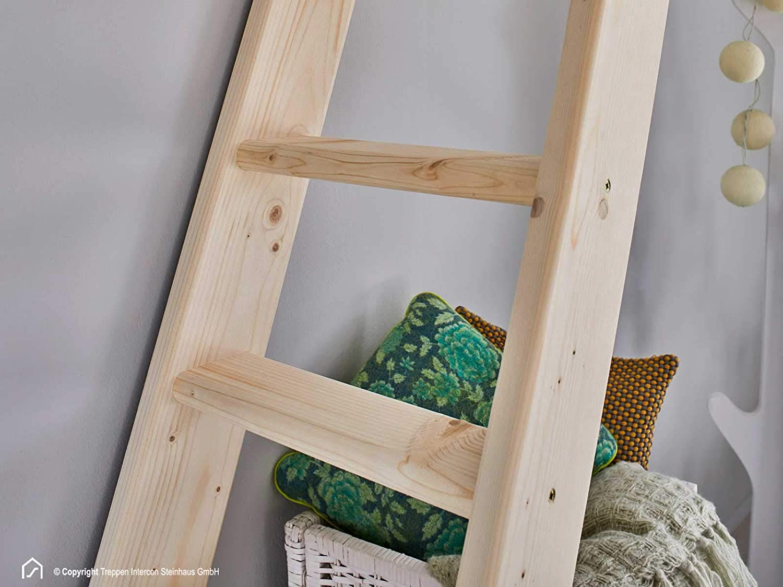 8 Stufen 190 cm 12 Stufen 260 cm 10 Stufen 240 cm Fichte Massivholz Intercon/® Hochbettleiter SAFE STEP 6 Stufen 145 cm