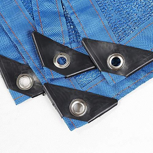 Toldos Sombreado 90% Tela De Sombra Tela Sun Shade Con Ojales Para Cubierta De Pérgola Cubierta Transpirable Resistente A Los Rayos UV Cubierta De La Planta Neta (Color : Blue-6.6x16.5ft/2x5m)